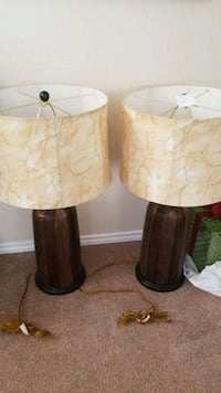 two brown-and-white table lamps Round Rock, 78665