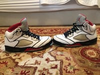 Jordan 5s Red and White outlined Roswell, 30075