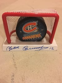Yvan Cournoyer autographed puck Clearview, L0M