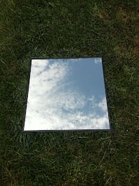square black framed mirror