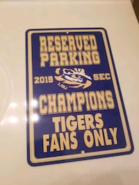 LSU Champion Parking Sign