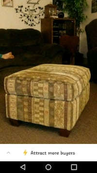 brown and white fabric sofa chair Jamestown, 14701