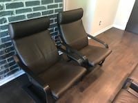Leather Armchairs + Footstools (Set of 2) Montréal, H2Y