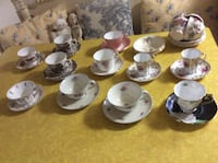Collection of vintage tea cups 18. - 40.