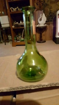 green glass bottle with lid Bartlesville, 74006