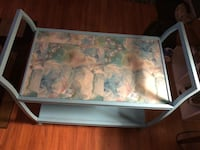 White and blue pattern old fashion metal tv cart  Romeoville, 60446