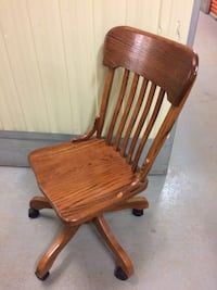 brown wooden windsor rocking chair Montréal, H4C 2Y2