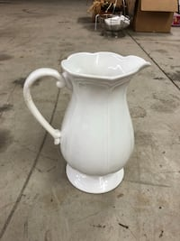 White ceramic pitcher Mooresville, 28117