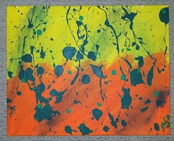 Brightly colored abstract painting