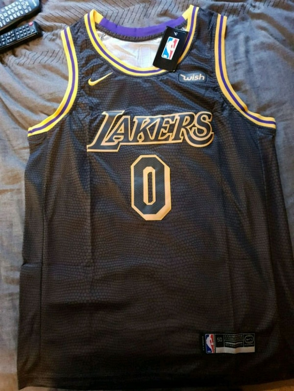 the best attitude 4cd16 b72ff Los Angeles Lakers Kyle Kuzma #0 *Black Jersey*