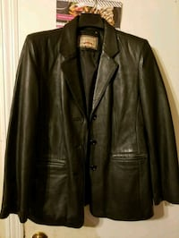 black leather button-up jacket Hyattsville, 20784