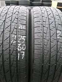 2 slightly used tires  Alexandria, 22304