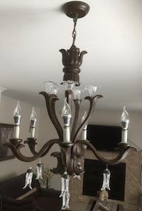 gray and white uplight chandelier 780 km
