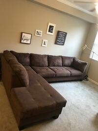 Large Brown sectional couch Riverside, 92505