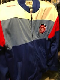 Blue Red and White Pistons jacket Ann Arbor, 48109