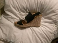 pair of brown leather wedge sandals Sacramento, 95831