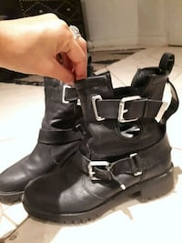 Biker boots real leather 37