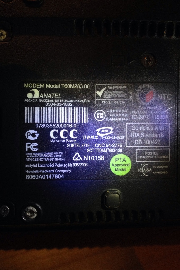 ANATEL T60M283 DRIVERS FOR WINDOWS XP
