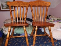 Kitchen chairs only two all Wood