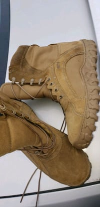 brown leather work boots with box Virginia Beach, 23460