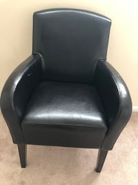 Black  faux leather chair Annandale, 22003