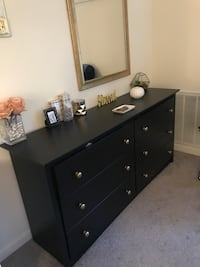 Black Dresser with Gold accents Revere, 02151