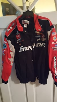 red and black snap-on zip-up racing jacket West Whiteland, 19380