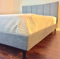New Modern Gray Queen Bed  Silver Spring