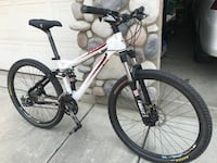 white and black full-suspension bike Fresno, 93710