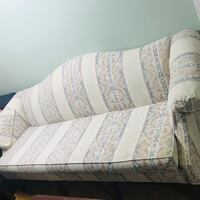 white and gray floral fabric sofa Falls Church, 22042