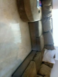 brown fabric 3-seat sofa Victorville, 92392