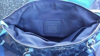 blue and black leather bag Jefferson, 97352