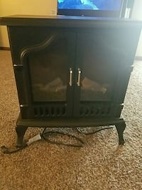 Black fake fire place heater  Franklin, 45005