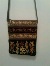 Black suede bag with embroidered work  Surrey, V4N 2B3