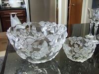 different Frosted crystal glass bowl,p2,3031  Mississauga