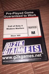 Call of duty 4 modern warfare .  (I will trade for xbox one game