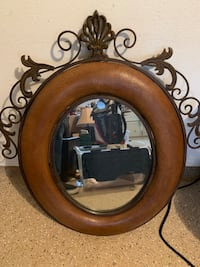 Iron and Leather Mirror Ventura, 93003