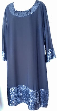 NEW 2X 20 22 Formal Dress Sequins PLUS Size Fancy Party Gown Wedding Black NWT New with tags Oakville