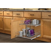 Kitchen Cabinet Pull-Out Chrome 2-Tier Wire Basket Toronto, M4X 1B9