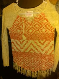 Girls Justice Sweater, Size 12-14 Moore, 73160
