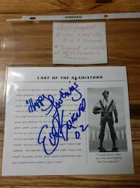 EVIL KNIEVEL HAND SIGNED AUTOGRAPH!!
