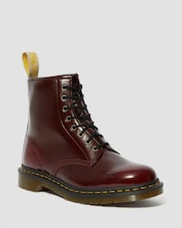 DOCTOR MARTINS RED VEGAN BOOTS