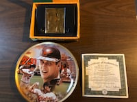 Cal Ripken Jr. Lmtd. Edition Record Brkers Plate & 23kt gold foil card Kensington, 20895