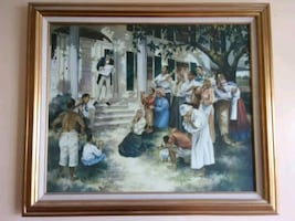 Emancipation Day  Framed Oil Painting On Canvas
