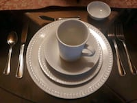 China and flatware to match