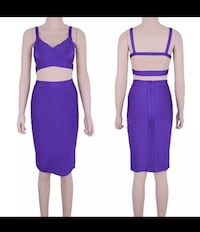 PURPLE bandage 2 piece dress set. Size SMALL. Perfect condition  Richmond, V6Y