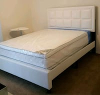 Brand New Queen Size Leather Bed + Mattress  Silver Spring, 20902