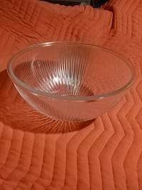 "Glass bowl....12"" dia..never used Vaughan"