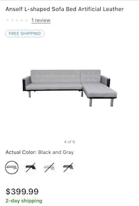 Gray and black sectional Kissimmee, 34741