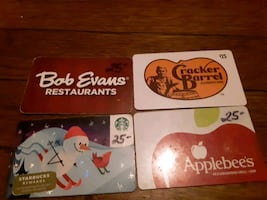 Gift cards totalling 100$